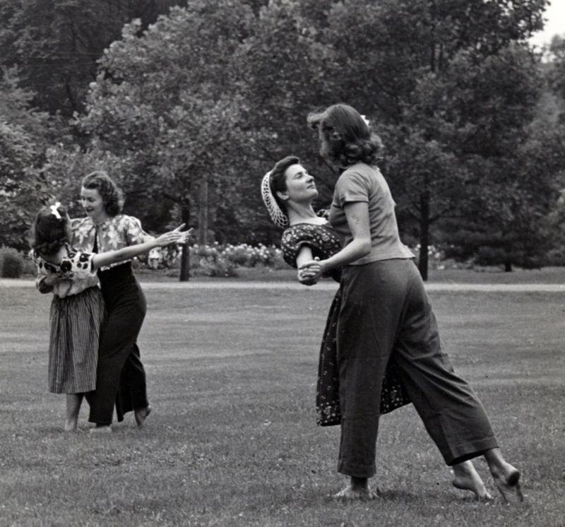 Dancing on the lawn