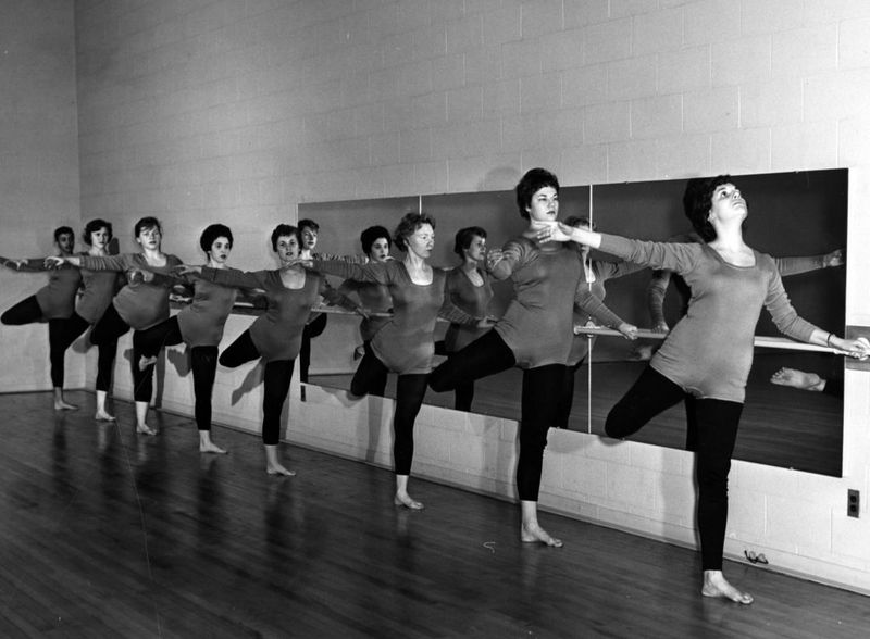 Barre work, group