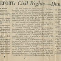 Inside Report: Civil Rights - Danger Ahead news clipping
