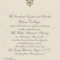 Dedication invite and program