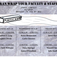 Saran wrap your faculty and staff