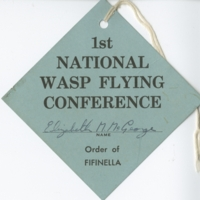 First National WASP Flying Conference tag