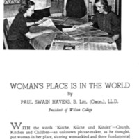 Women's Place is in the World