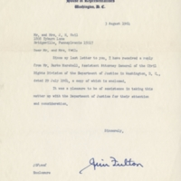 Letter from Jim Fulton to Mr. and Mrs. Vail