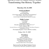 """Special Events for Black History Month: Transforming Our History Together"""