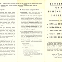 Students for a Democratic Society brochure