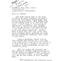 Letter from Mary Ellen Chase
