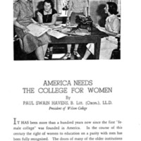 America Needs the College for Women