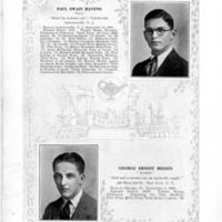 Paul Swain Havens Yearbook Photograph and Biography