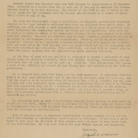 Letter from Jacqueline Cochran, Director of Women Pilots, to Elizabeth McGeorge
