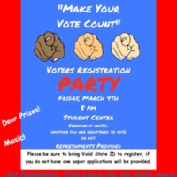 Voters registration party flier