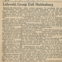 """Lelyveld, Group Exit Hattiesburg"""