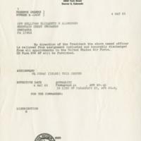 Reserve orders to Captain Elizabeth M. Sullivan