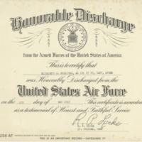 Elizabeth Sullivan's honorable discharge certificate