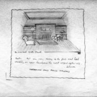 Drawing of Paul Swain Havens's Study