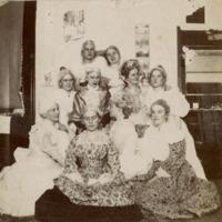 "Anne Elizabeth ""Bess"" Swain and Classmates at Wilson College Washington's Birthday Celebration"